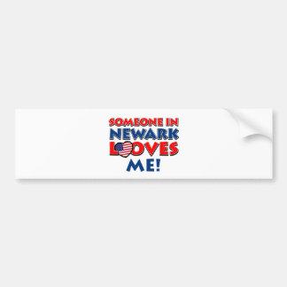 Someone in newark loves me bumper sticker