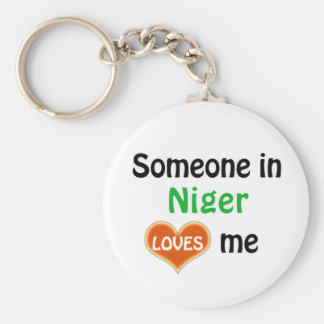 Someone in Niger Loves me Keychain