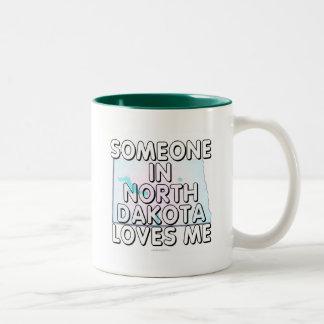 Someone in North Dakota loves me Two-Tone Coffee Mug
