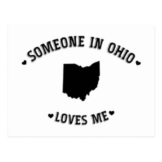 Someone in Ohio Loves Me Postcard