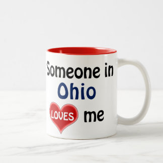 Someone in Ohio loves me Two-Tone Coffee Mug