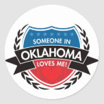 Someone In Oklahoma Loves Me Round Sticker