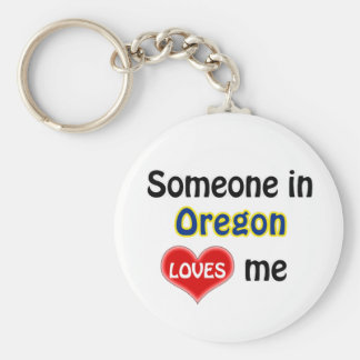 Someone in Oregon Loves me Basic Round Button Keychain