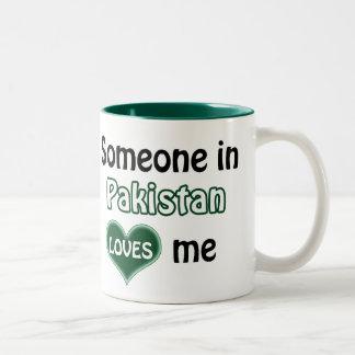 Someone in Pakistan loves me Two-Tone Coffee Mug