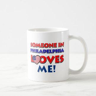 Someone in philadelphia  loves me coffee mug