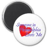 Someone in Philadelphia Loves Me 2 Inch Round Magnet
