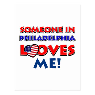 Someone in philadelphia loves me postcard