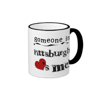 Someone in Pittsburgh Ringer Mug