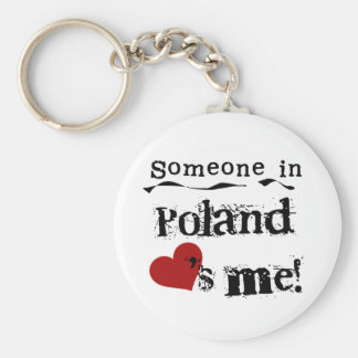 Someone In Poland Loves Me Key Chains