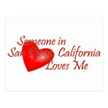 Someone in San Diego Loves Me Postcard