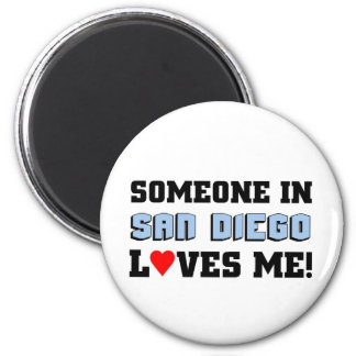 Someone in San Diego Loves me Refrigerator Magnet