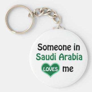 Someone in Saudi Arabia Loves me Keychain