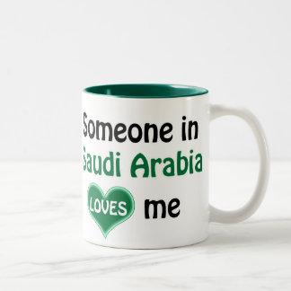 Someone in Saudi Arabia loves me Two-Tone Coffee Mug