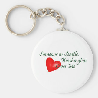 Someone In Seattle Loves Me Keychain