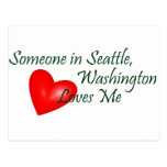 Someone In Seattle Loves Me Post Cards