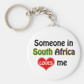 Someone in South Africa Loves me Basic Round Button Keychain