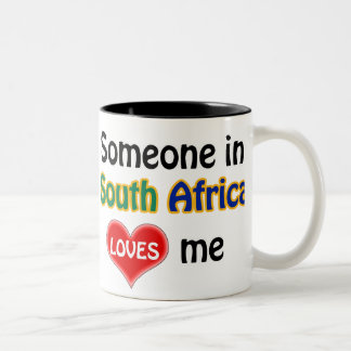 Someone in South Africa loves me Two-Tone Coffee Mug
