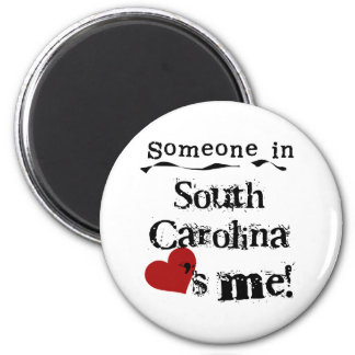 Someone In South Carolina Loves Me 2 Inch Round Magnet
