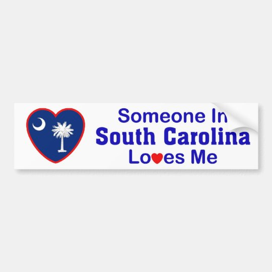 Someone In South Carolina Loves Me Bumper Sticker