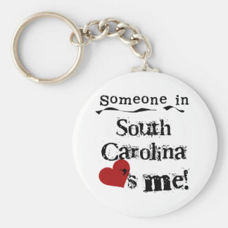 Someone In South Carolina Loves Me Keychain