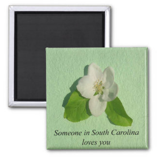 Someone In South Carolina Loves You- Apple Blossom Magnet