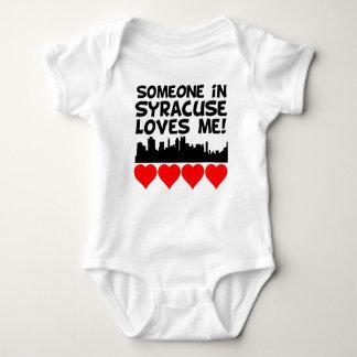 Someone In Syracuse New York Loves Me Baby Bodysuit