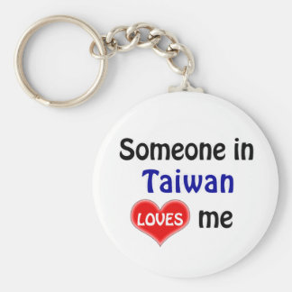 Someone in Taiwan Loves me Keychain