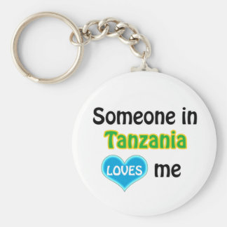 Someone in Tanzania Loves me Basic Round Button Keychain