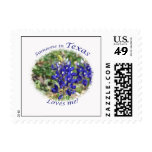 Someone in Texas Loves Me Bluebonnet Stamp
