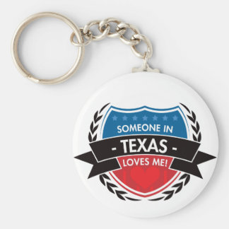 Someone In Texas Loves Me Keychains