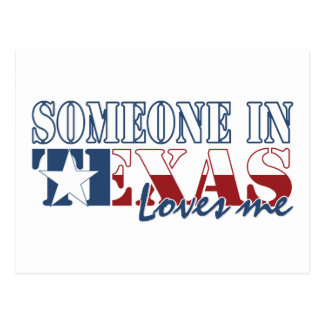 Someone in Texas Loves Me Postcard