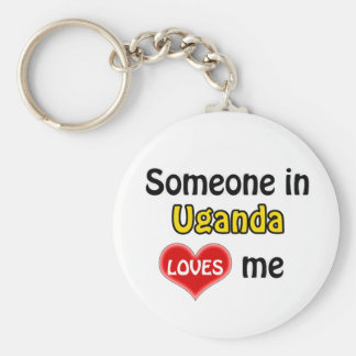 Someone in Uganda Loves me Keychain