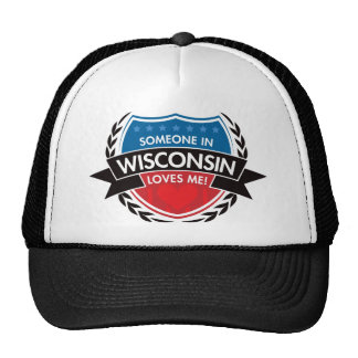 Someone In Wisconsin Loves Me Mesh Hats