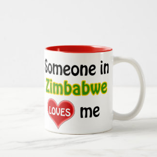 Someone in Zimbabwe loves me Two-Tone Coffee Mug