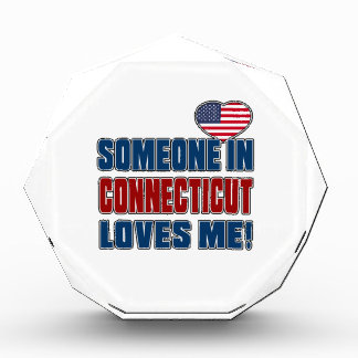 SOMEONE LOVES ME IN CONNECTICUT ACRYLIC AWARD