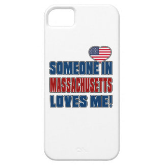 SOMEONE LOVES ME IN MASSACHUSETTS iPhone 5 CASES