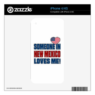 SOMEONE LOVES ME IN NEW MEXICO iPhone 4 DECALS