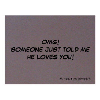 Someone Loves You Postcard