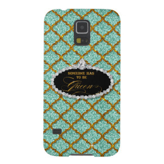 Someone Must be Queen, Quatrefoil Jewel Glitter Galaxy S5 Covers