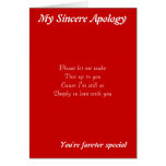Someone special apology greeting cards