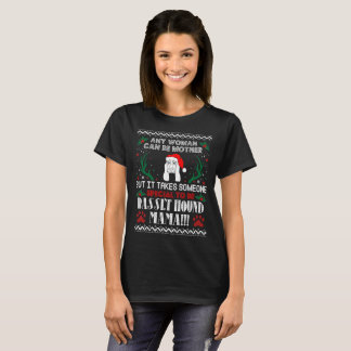 Someone Special Basset Hound Mama Christmas Ugly T-Shirt