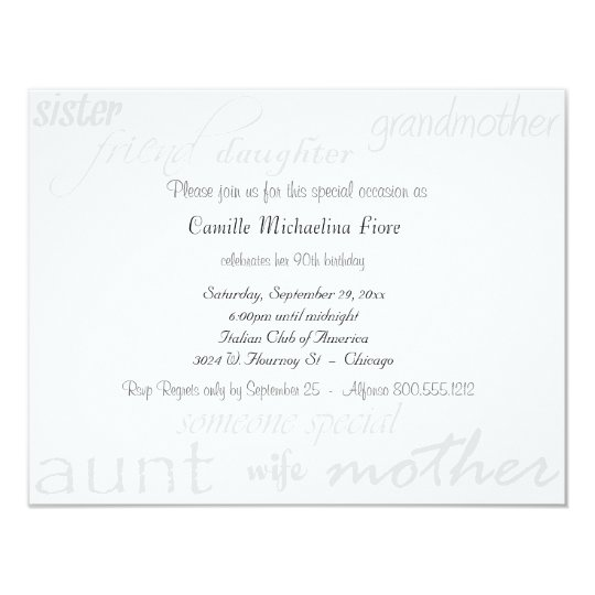 Someone special female birthday invitation zazzle someone special female birthday invitation stopboris Choice Image