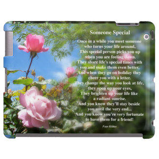 Someone Special Friendship Poem iPad Case