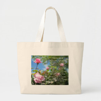 Someone Special Friendship Poem Large Tote Bag