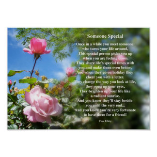 Someone Special Friendship Poem Poster