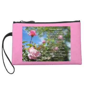 Someone Special Friendship Poem Wristlet