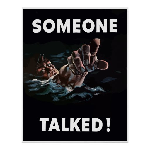 Someone Talked -- Border Poster