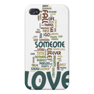 Someone to Love Word Cloud Cases For iPhone 4