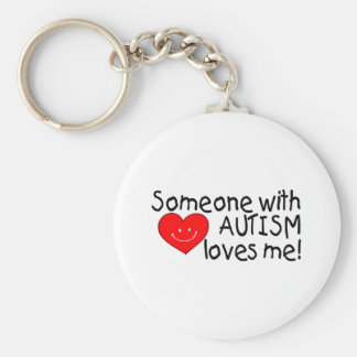 Someone With Autism Loves Me (Hrt) Basic Round Button Keychain