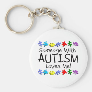 Someone With Autism Loves Me Keychain
